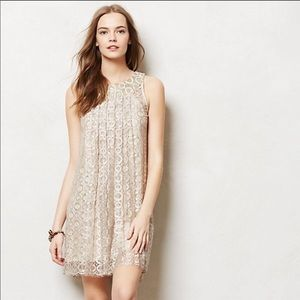 Anthropologie gold dress!